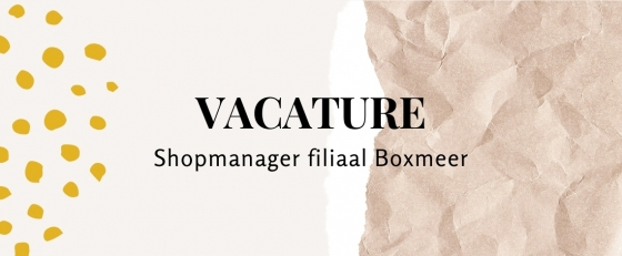 Shopmanager Boxmeer