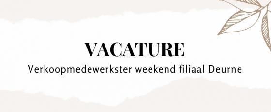 Weekendhulp / Verkoopmedewerkster Deurne