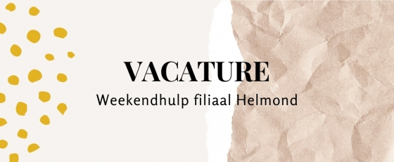 Weekendhulp/vakantiekracht Helmond 7 uur