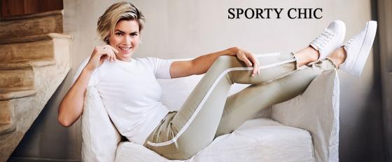 Sportieve broeken met biezen