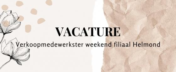 Weekendhulp / Verkoopmedewerkster Helmond
