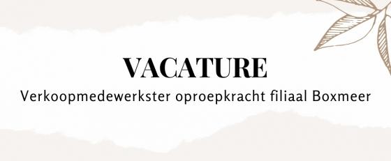Verkoopmedewerkster / Oproepkracht Boxmeer