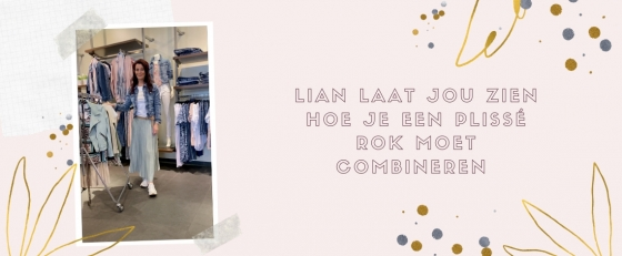 How-to: hoe Lian de plissé rok combineert