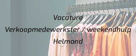 Verkoopmedewerkster / Weekendhulp Helmond
